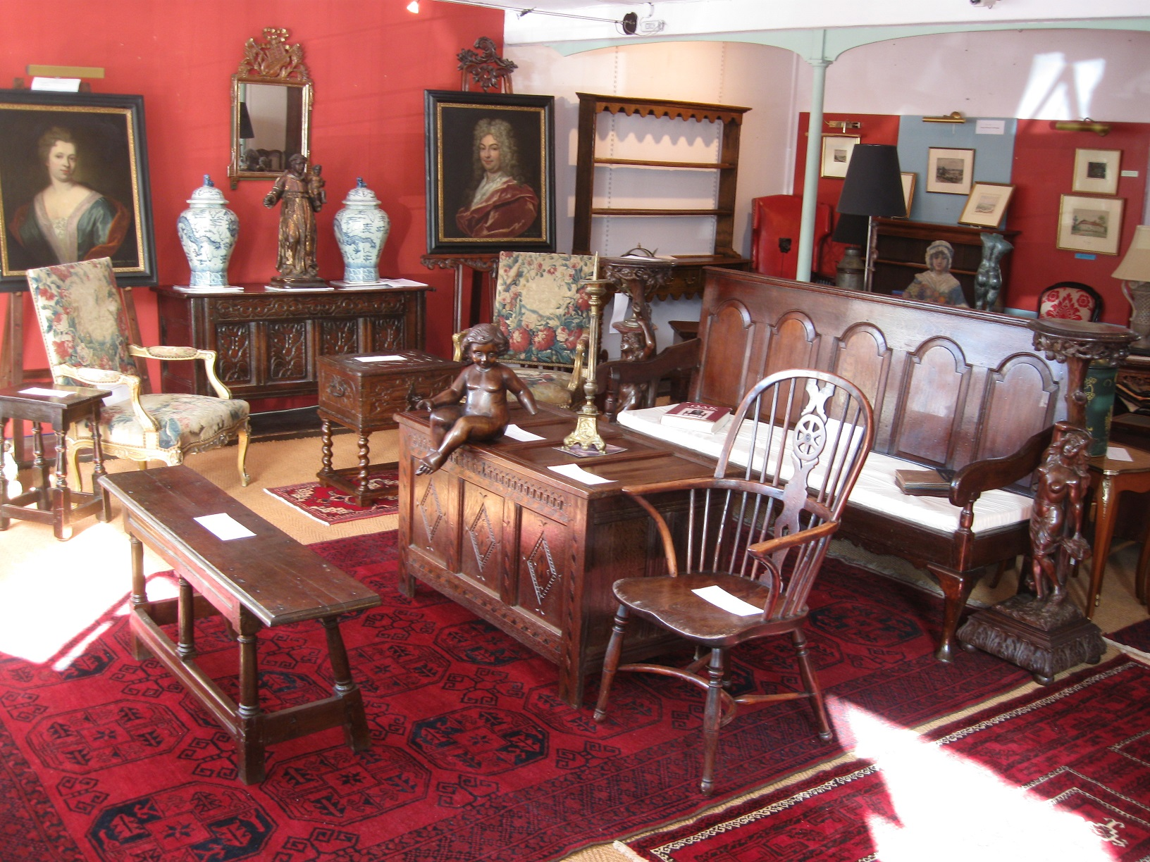 Exhibits are starting to arrive for the Early Furniture and Rug Selling Exhibition – Sat. 16th March